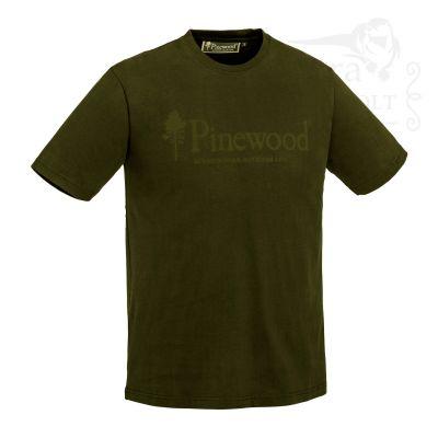 """Pinewood® Outdoor Life Unisex Póló """"Oliva"""""""
